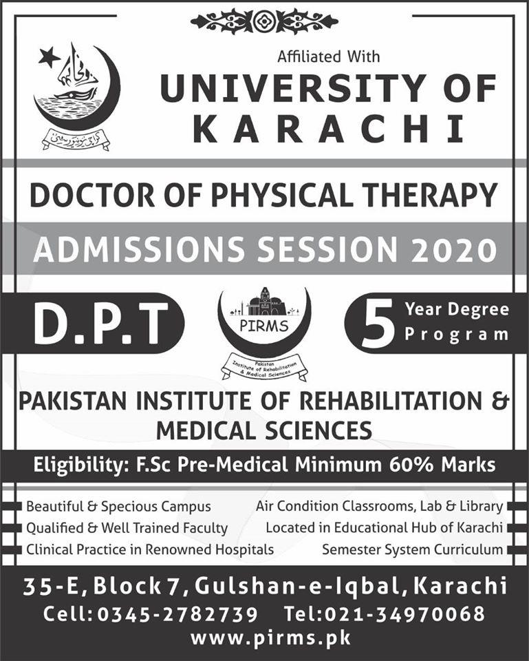 Pakistan institute of Rehabilitation & medical sciences Karachi