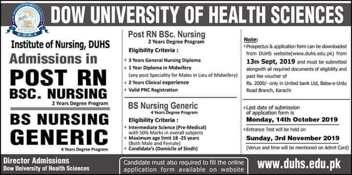BS Nursing- Dow University of Health Sciences