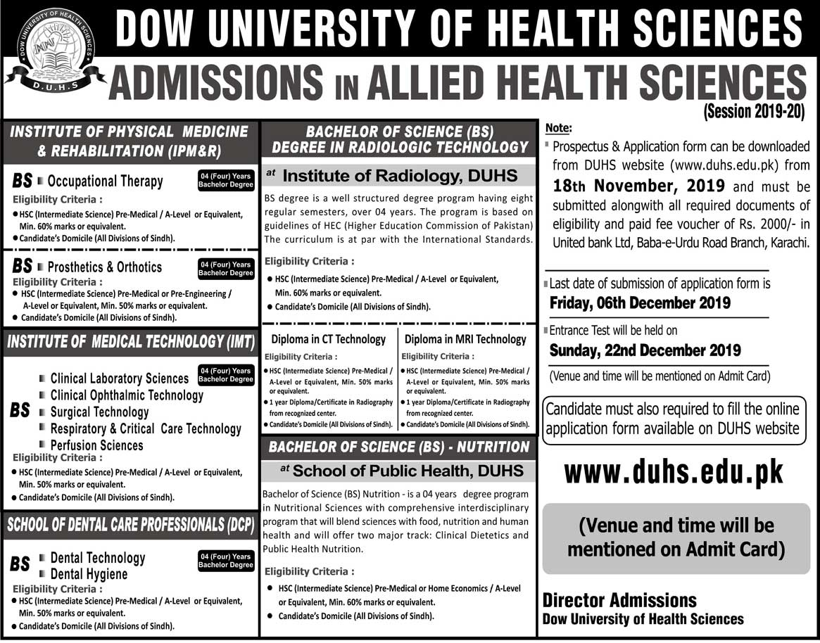 Bachelors in Occupational Therapy (BSOT)