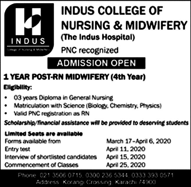 Indus College of Nursing & Midwifery, Karachi