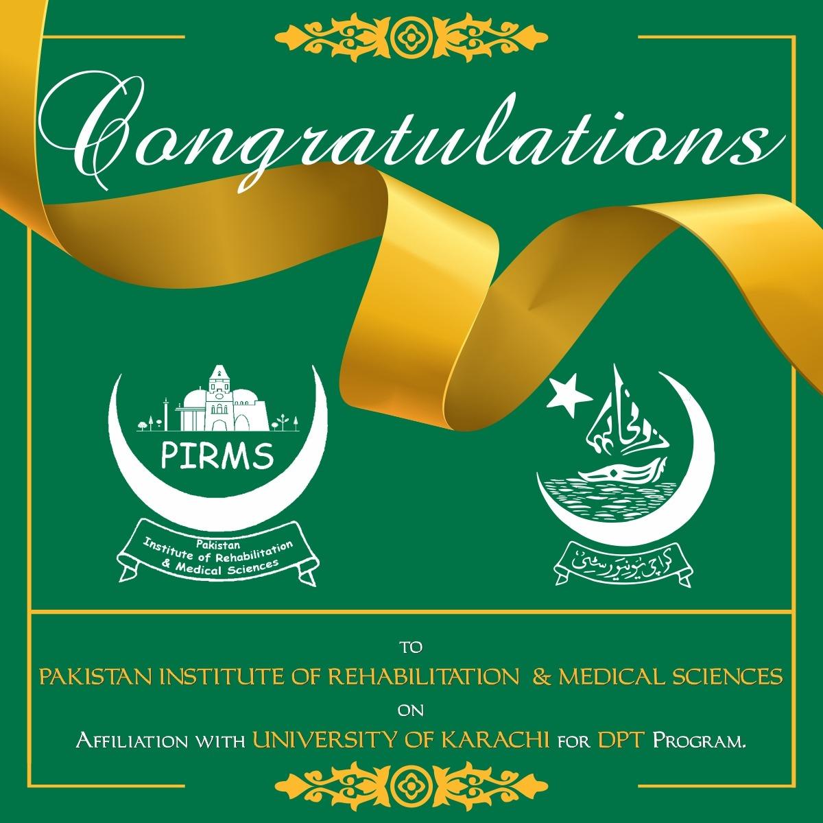 PIRMS Pakistan Institute of Rehabilitation and Medical sciences Karachi