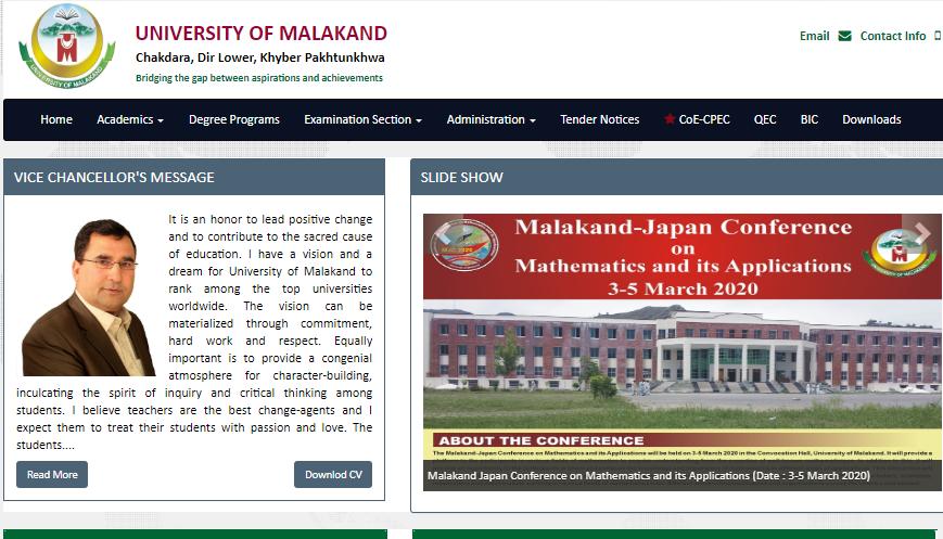 Private: UNIVERSITY OF MALAKAND