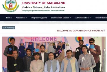 UNIVERSITY OF MALAKAND DEPARTMENT OF PHARMACY
