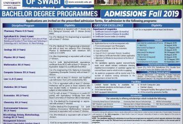 University of Swabi Department of Pharmacy