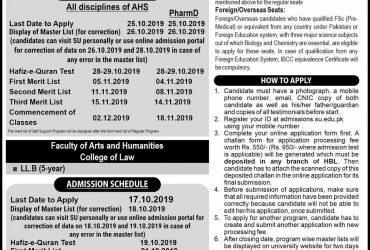 University Of Sargodha Faculty of Pharmacy