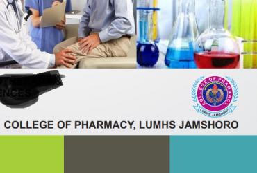 College of Pharmacy LUMHS Jamshoro