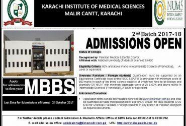 Karachi Institute Of Medical Sciences, CMH Malir