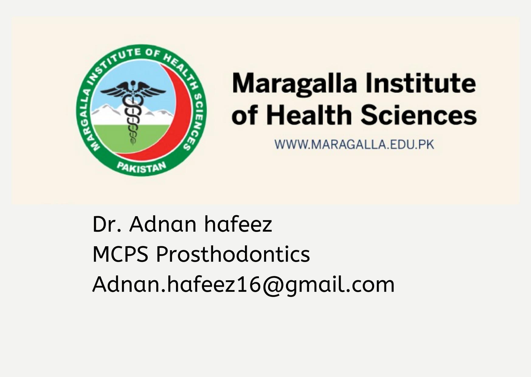 Dr. Adnan hafeez about MIHS