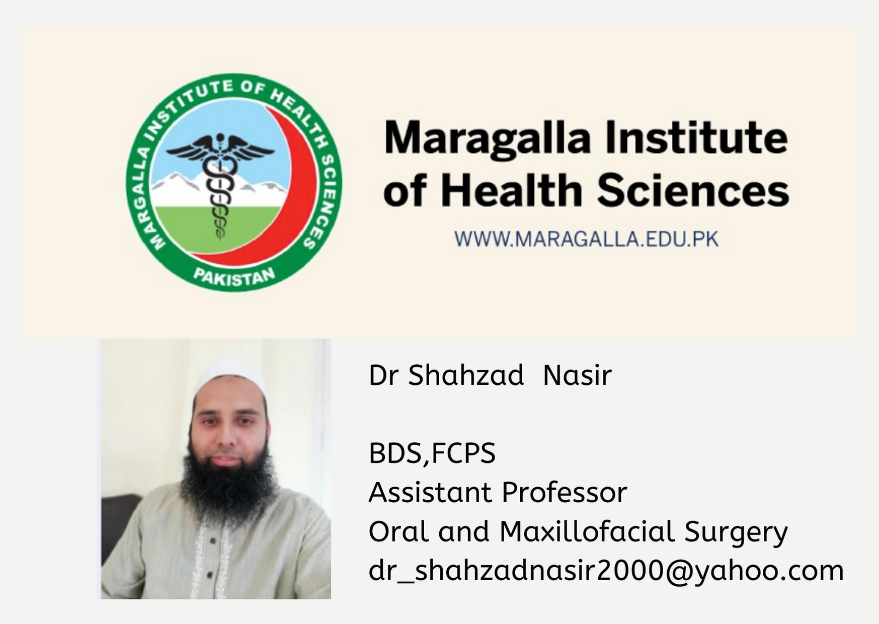MIHS RAWALPINDI by  Dr Shahzad nasirAssistant professor OMFS