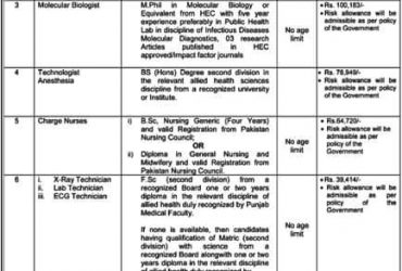 Specialized Healthcare and Medical Education Department Govt of Punjab