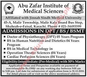 abu zafar institute of medical sciences