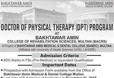 Bakhtarwar Amin College of Rehabilitation Sciences, Multan