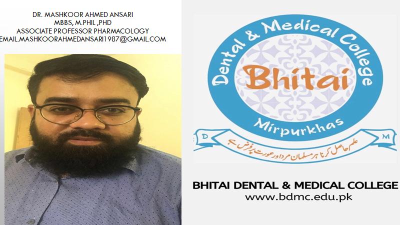 BDMC PHARMACOLOGY by DR. MASHKOOR AHMED ANSARI