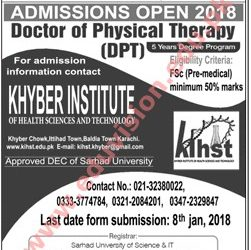 Khyber Institute Of Health Sciences And Technology, Peshawar