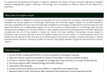 National University of Medical Sciences NUMS BS Biological Sciences (Microbiology)