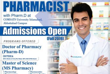 Department of Pharmacy, COMSATS Institute of Information Technology, Abbottabad.