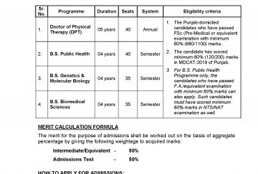 University of Health Sciences BS genetic & microbiology
