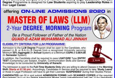 UOK-L.L.M Admission 2020